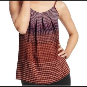 CaBi Multicolored Houndstooth Tank Top sz Small